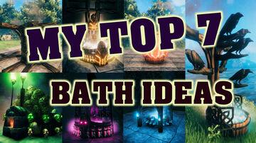 My top 7 Bathtub decoration ideas Valheim Build