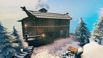 Winter cabin Valheim Build