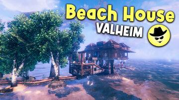 Beach House Valheim Build