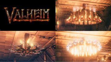 A few chandeliers Valheim Build