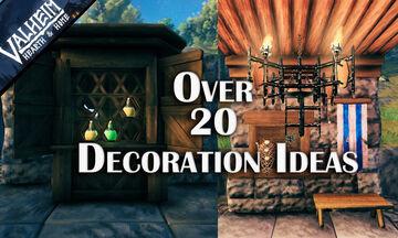 over 20 interior decoration Valheim Build