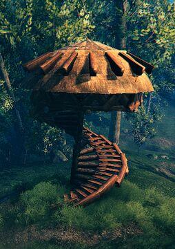 Spiral tower Valheim Build